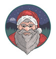 cute santa claus old man vector image vector image