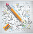 education science concept pencil sketch vector image vector image