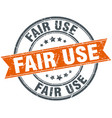 fair use round grunge ribbon stamp vector image vector image