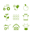 Farm linear icons set vector image