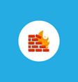 firewall icon sign symbol vector image