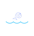 Fish jumping over waves vector image vector image