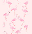 flamingo on pink vector image vector image
