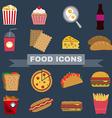 Food Snacks Icon Set vector image vector image