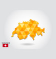 geometric polygonal style map of switzerland low vector image vector image