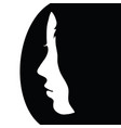 girl face beauty in black and white color vector image vector image