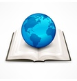 Globe on book vector image