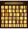 Gold gradients set vector image