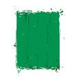 grunge frame - green vector image vector image