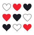 hand drawn hearts postcard decoration vector image vector image