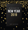 happy new year 2019 greeting card invitation vector image vector image