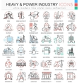 Heavy and Power industry color line outline vector image vector image