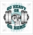 Heavy dumbbell in hand Grunge style vector image vector image