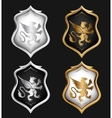 Heraldry Shields Set vector image