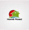 home road logo icon element and template for vector image