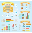 Hotel infographics vector image