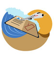 isolated summer vacation icon vector image vector image