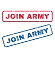 Join Army Rubber Stamps vector image vector image