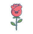kawaii smiling rose flower vector image vector image