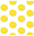 lemon isolated white background vector image vector image
