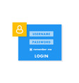 login window page template for website vector image vector image