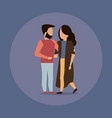 man and woman couple hugging vector image vector image