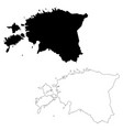 map estonia isolated black vector image vector image
