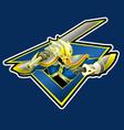 monkey sword mascot logo image vector image vector image