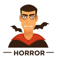 movie genre horror cinema icon of vampire vector image vector image