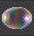 oval soap bubble concept background realistic vector image