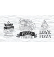 Pizza logo Paper vector image vector image