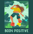 poster body positive concept vector image