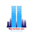 poster for patriot day vector image vector image