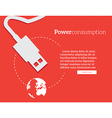power consumption vector image vector image