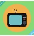 Retro tv icons vector image