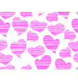 seamless pattern with hearts for valentines day vector image vector image
