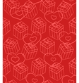 Seamless Valentine pattern with gift boxes and vector image vector image