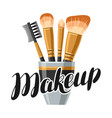 set of brushes for make up of object vector image vector image