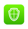 shield icon digital green vector image