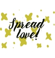 spread love inscription greeting card vector image vector image