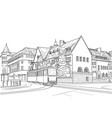street in helsinki vector image vector image