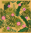 Summer seamless exotic floral tropical palm