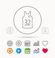 team captain icon basketball shirt sign vector image vector image