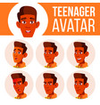 teen boy avatar set indian hindu asian vector image vector image
