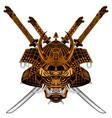 tiger samurai sh s vector image vector image