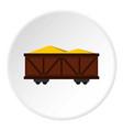 train cargo wagon icon circle vector image vector image