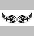 Tribal wings design vector image vector image