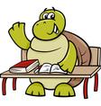 turtle raising hand cartoon vector image vector image