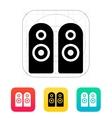 Two audio speakers icon vector image