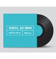 vinyl 33 rpm mockup 01 vector image vector image